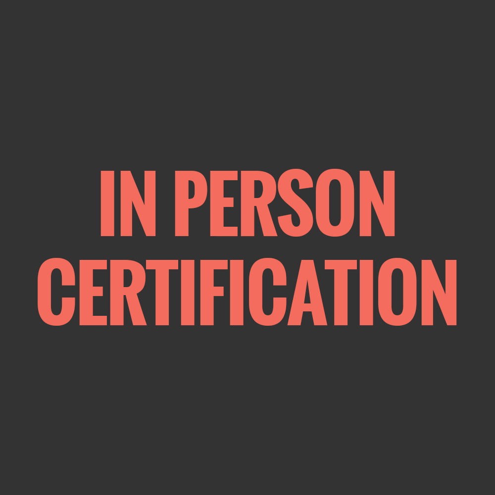 IN PERSON CERTIFICATION COURSES