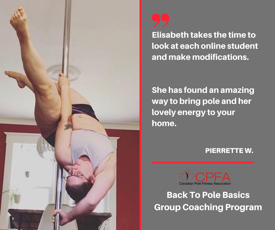 "See what others have said about this series! ""I highly recommend the Back to Pole Basics series.  It's been years since I've taken classes and this course has taught me so many new things, helped fix bad habits that I've picked up over the years, and reignited my passion for dance.  Lisa is an excellent instructor – caring and dedicated. You'll have fun and learn lots too""       Anne Fannon   ""I have really enjoyed the Back to Pole Basics course! Some of the material is review for me, and I appreciate your way of explaining things with a focus on physics and anatomy. I have found that really useful to improving my technique. My favourite part of the classes is taking these moves and putting them into combos, since a lot of the time I learn something on its own in class, but have no concept of how it would actually fit in when I'm dancing. With the skills you have taught me, I know I'll be able to incorporate these moves into my flows going forward.  There's also been a lot of foundational techniques that I haven't come across in my almost 4 years of pole dancing, so this is really going to help me advance further in my higher level classes too! Thank you so much for everything, this class has helped me so much ""Karen"